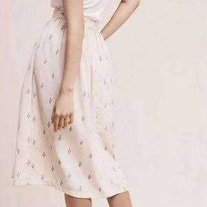 Anthropologie/Christine Alcalay Cactus Midi Skirt
